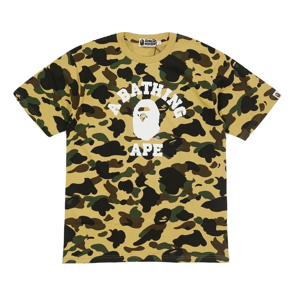 82a7b89e6ae4 A Bathing Ape 1st Camo College Tee - Yellow Camo – grails sf