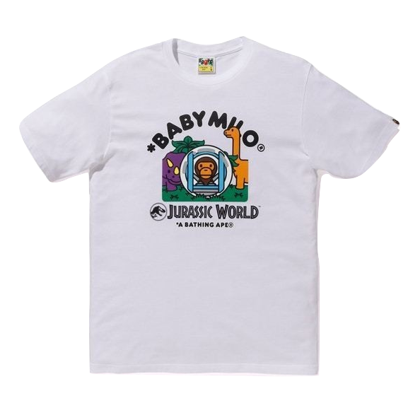 A Bathing Ape x Jurassic World Baby Milo Gyrosphere Tee - White - Used
