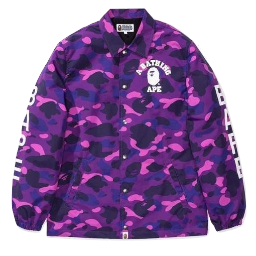 A Bathing Ape Color Camo Coach Jacket - Purple
