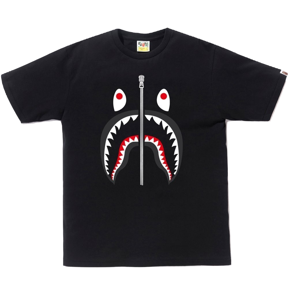 A Bathing Ape Shark Tee - Black