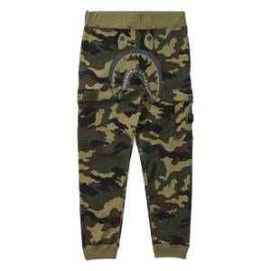 Bape X Undefeated Woodland Camo Shark Slim Pants