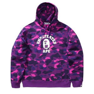 Bape x Undefeated Color Camo College Pullover - Purple - Used