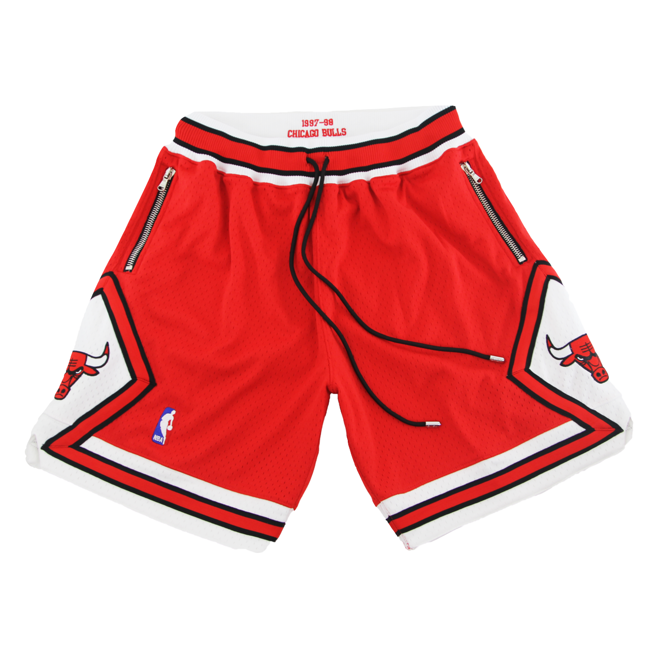 Swish Bulls Authentic Custom Shorts - Red