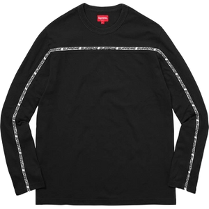 Supreme Tape Stripe L/S Pique Top