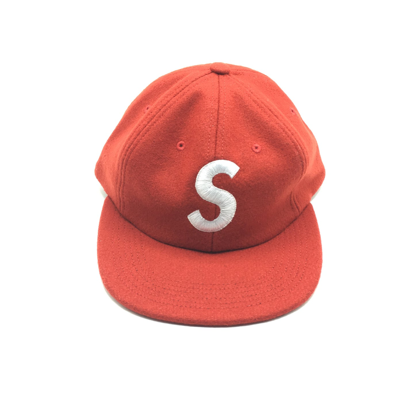 Supreme Hat-S Logo Panel Red