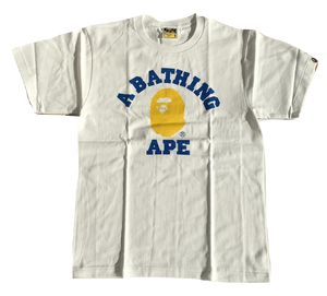 Bape Colors College Tee - White/Yellow