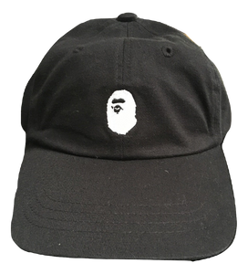 Bape Ape Logo Dad Hat - Black - Used