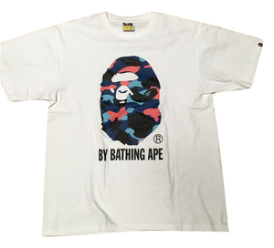 A Bathing Ape 1st Camo By Bathing Tee - White/Pink/Blue