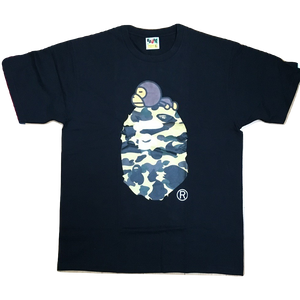 A Bathing Ape 1st Camo Milo On Big Ape Tee - Black/Yellow Camo
