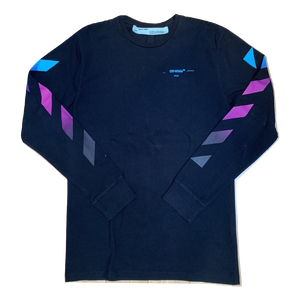 Off-White Diagonal Gradient Long Sleeve - Black - Used
