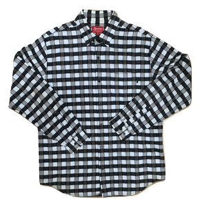 Supreme Scot Plaid Flannel Shirt - Black/White - Used