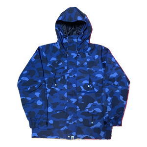 A Bathing Ape Color Camo Snowboarding Jacket - Blue Camo