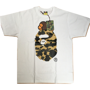 A Bathing Ape 1st Camo Milo on Big - White/Yellow Camo - Used