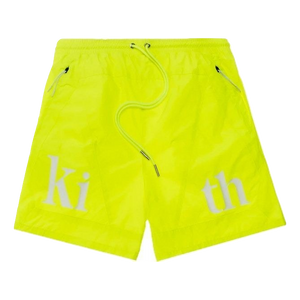 Kith Turbo Nylon Shorts - Citron