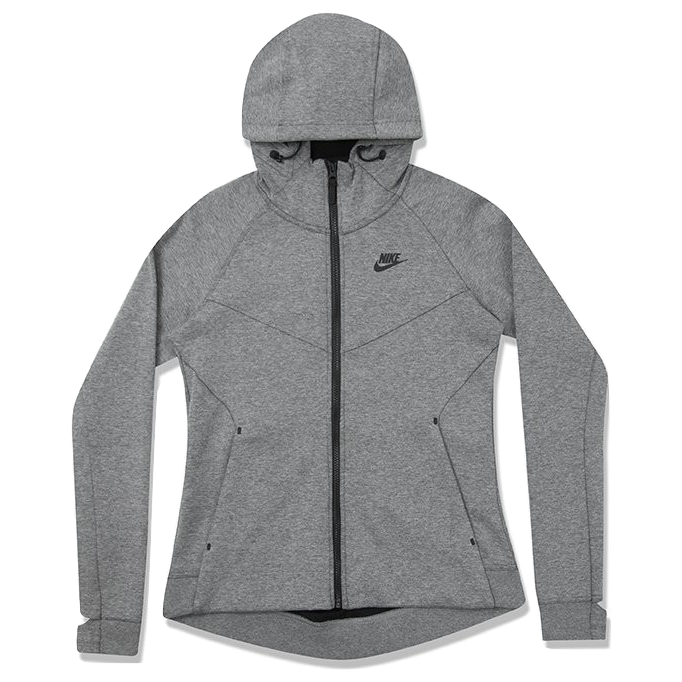Nike Women's Sportswear Tech Fleece Hoodie - Carbon Heather/Black