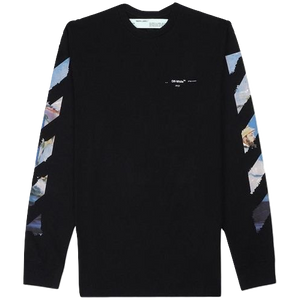 Off-White Diagonal Arrows L/S T-Shirt - Black/Multicolor - Used