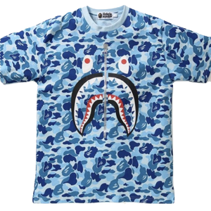 A Bathing Ape ABC Shark Tee - Blue - Used