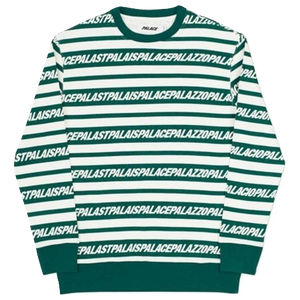 Palace Multi Lingual Crew - Green/White