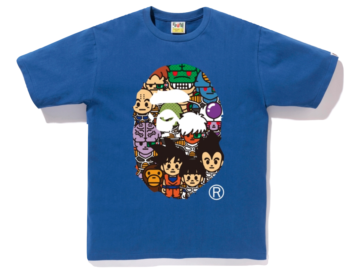 Bape X Dragon Ball Z Tee #8 Ape Head Friends - Used