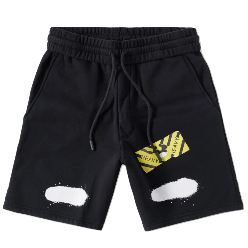 OFF White Diag Spray Sweatshorts - Black - Used