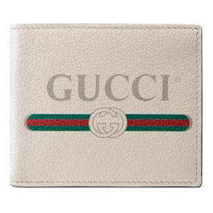 Gucci Vitnage Logo Wallet - White - Used