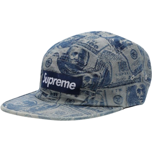 Supreme 100 Dollar Bill Camp Cap - Indigo