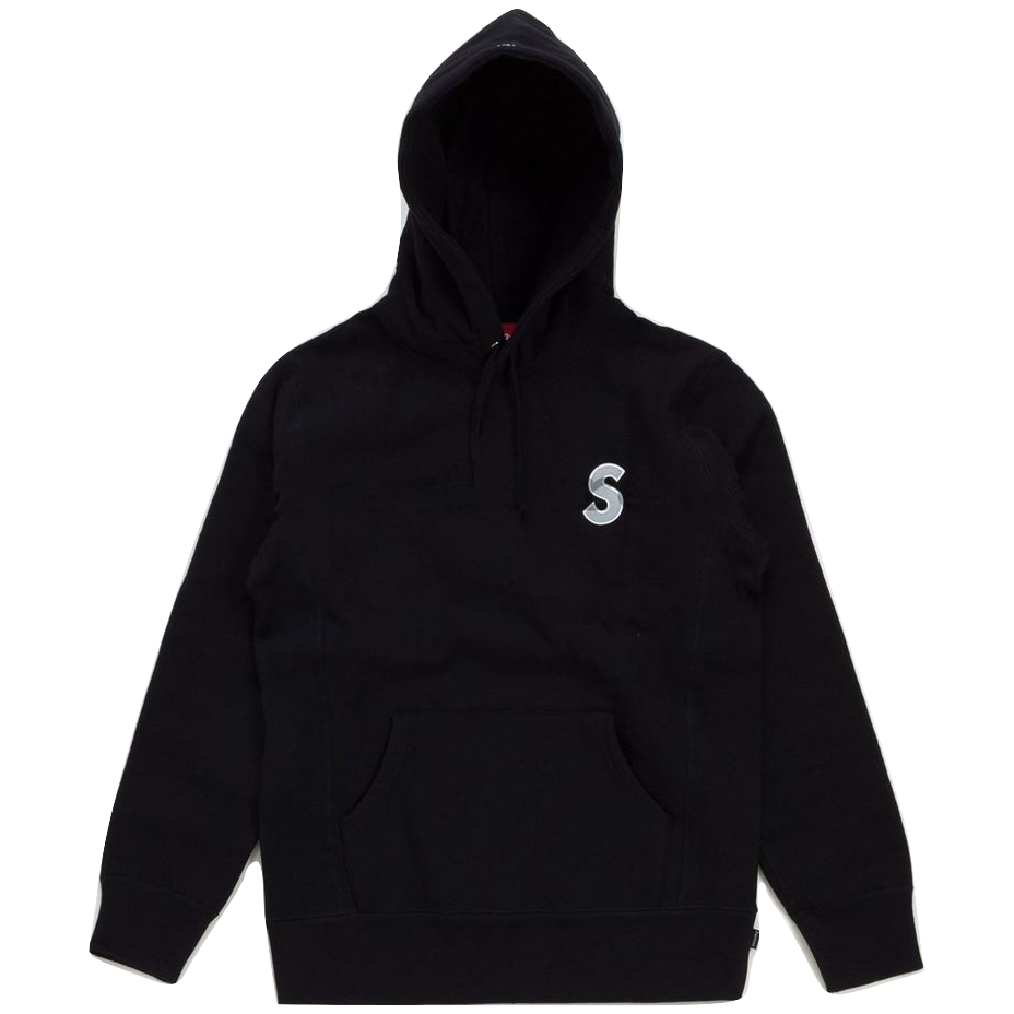 Supreme 3M Reflective S Logo Hooded Sweatshirt - Black