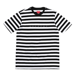 Supreme Bar Stripe Tee - Black/White