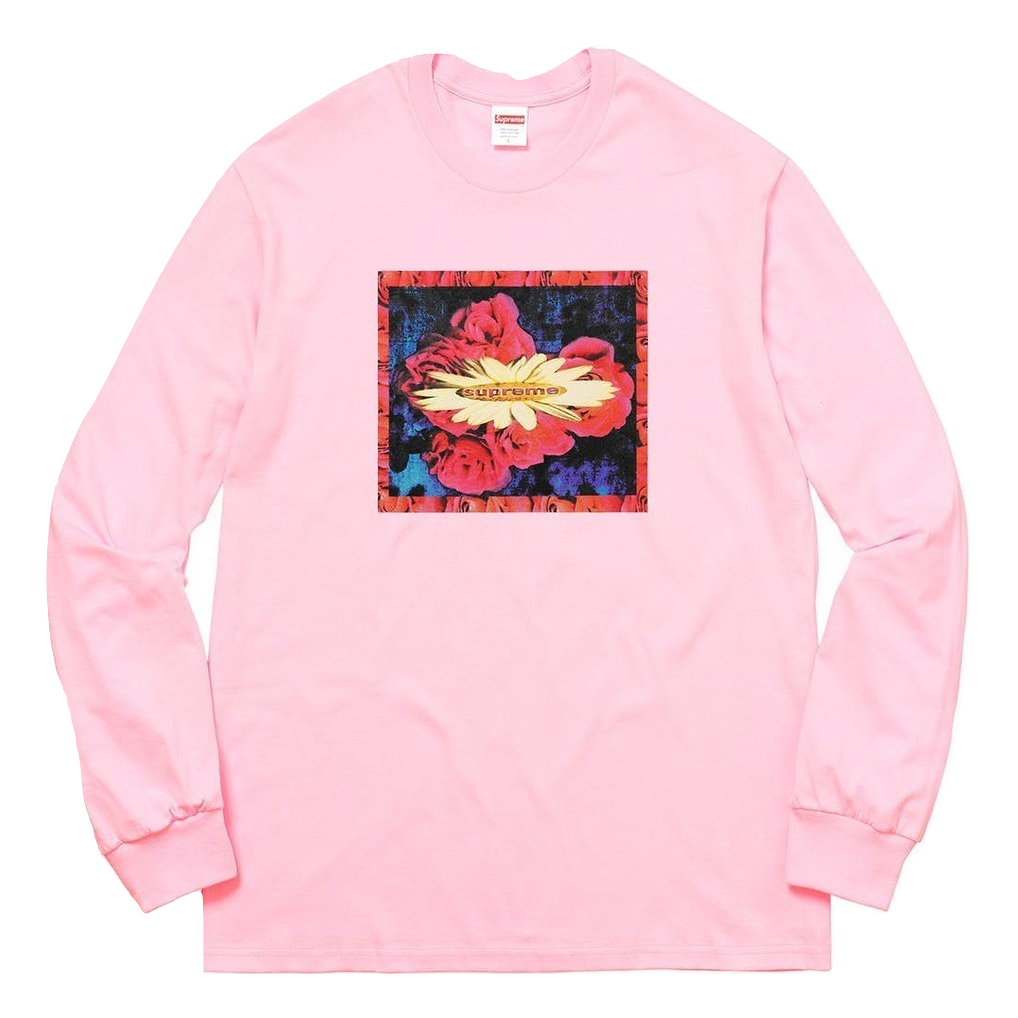 Supreme Bloom L/S Tee - Light Pink - Used