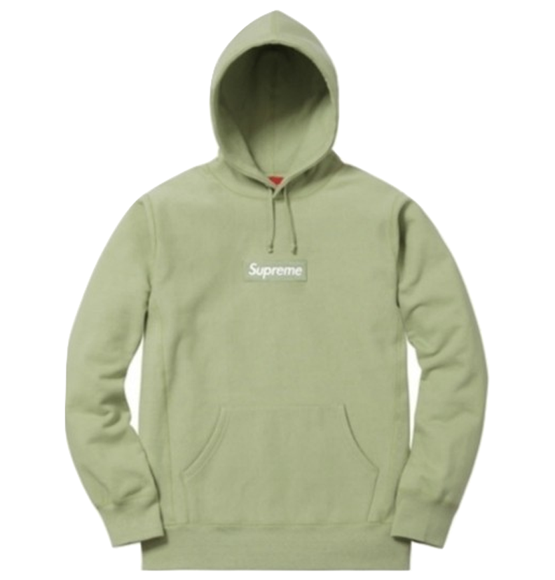 Supreme Box Logo Hooded Sweatshirt FW16 - Sage