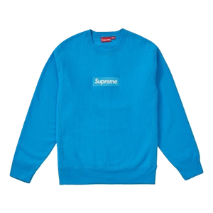Supreme Box Logo Crewneck FW18 - Bright Royal - Used