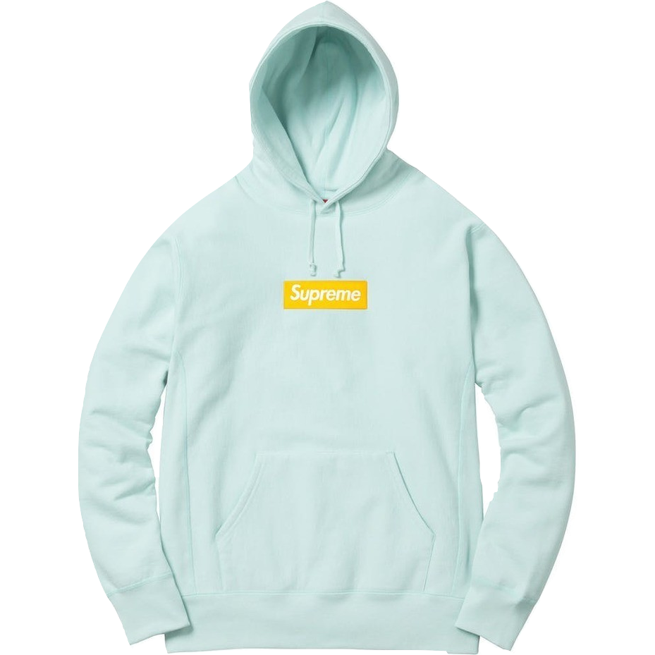 Supreme Box Logo Hooded Sweatshirt - Ice Blue - Used