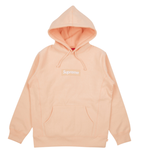 Supreme Box Logo Hooded Sweatshirt - Peach