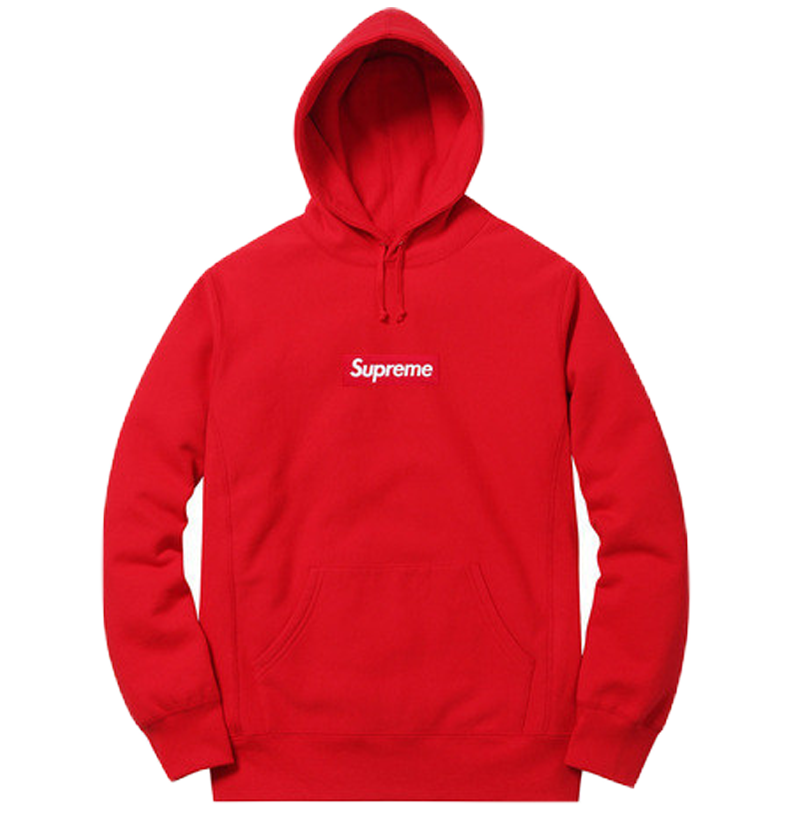 Supreme Box Logo Hoodie - Red FW14 - Used