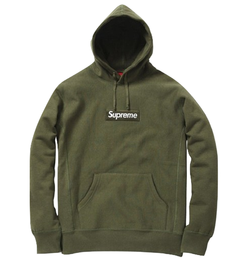 Supreme Box Logo Hooded Sweatshirt - Olive