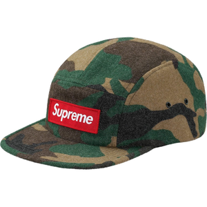 Supreme Camo Wool Camp Cap - Green