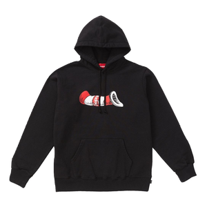 Supreme/Dr.Seuss Cat In The Hat Hooded Sweatshirt - Black - Used