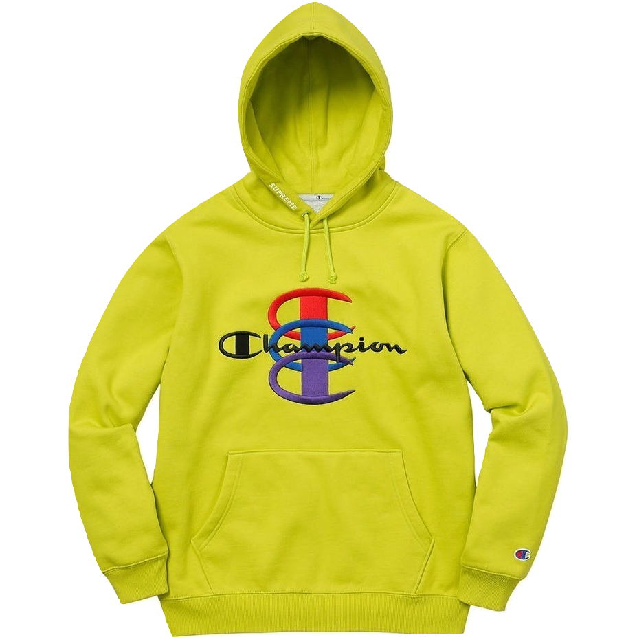 Supreme/Champion Stacked C Hooded Sweatshirt - Bright Green
