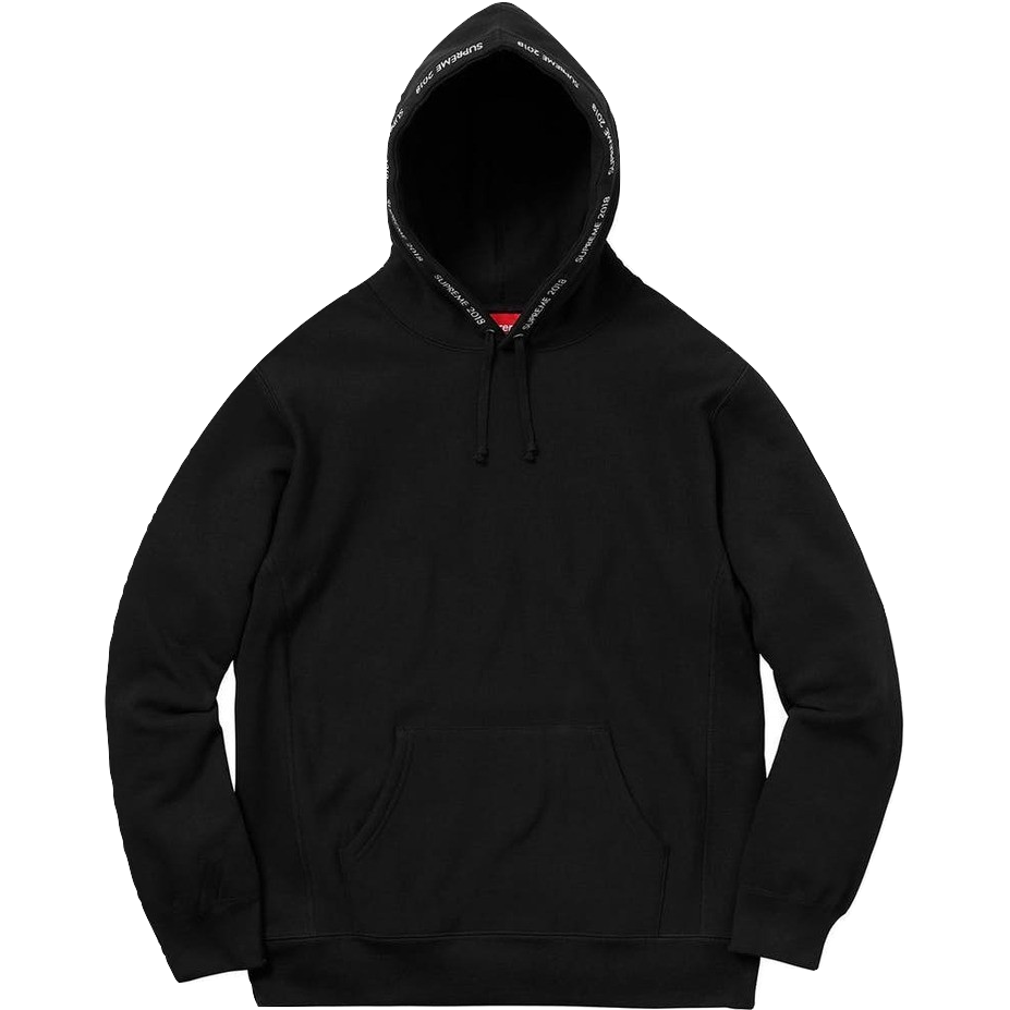Supreme Channel Hooded Sweatshirt - Black