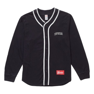 Supreme Color Blocked Baseball Top - Black - Used