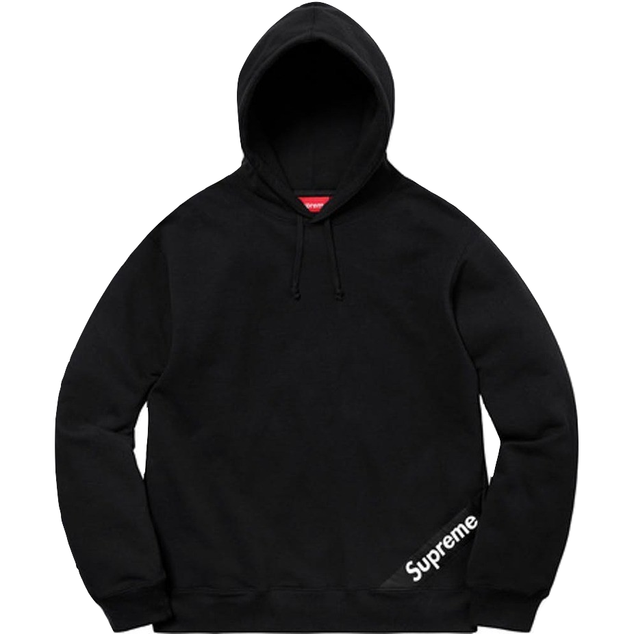 Supreme Corner Label Hooded Sweatshirt - Black