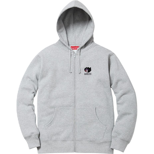 Supreme Gonz Ramm Zip Up Hooded Sweatshirt - Grey
