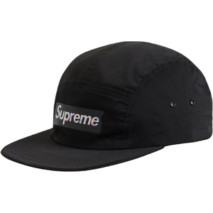 Supreme Holographic Logo Camp Cap - Black