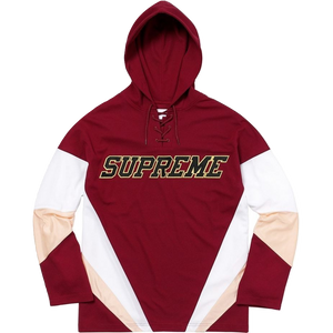 Supreme Hooded Hockey Jersey - Burgundy - Used