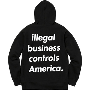 Supreme Illegal Business Hoodie - Black - Used