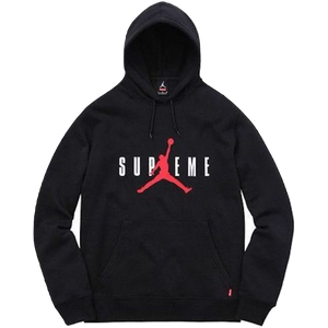 Supreme x Jordan Hooded Pullover - Black - Used