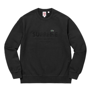 Supreme/Lacoste Crewneck Sweater SS18 - Black