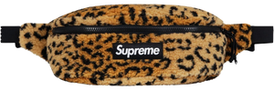 Supreme Leopard Fleece Waist Bag