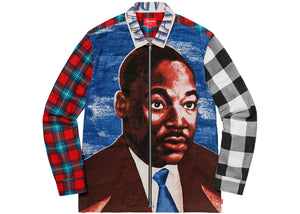 Supreme MLK Zip Up Flannel Shirt