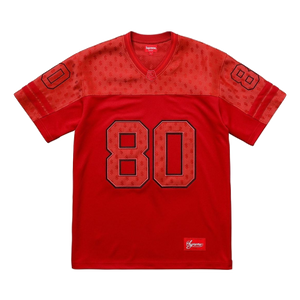 Supreme Monogram Football Jersey - Red